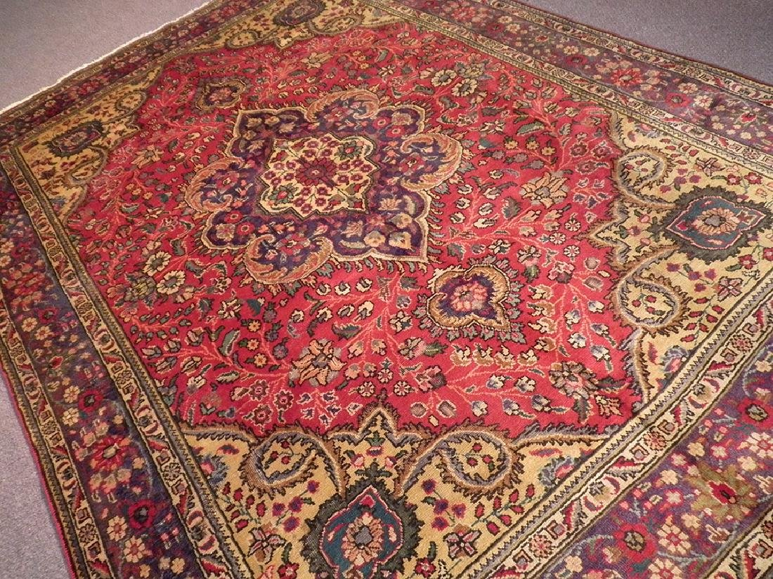 Highly Detailed Semi Antique Persian Tabriz 9.4x6.5 - 2