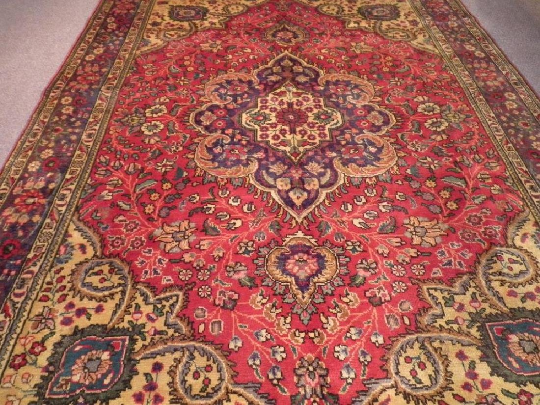 Highly Detailed Semi Antique Persian Tabriz 9.4x6.5 - 3
