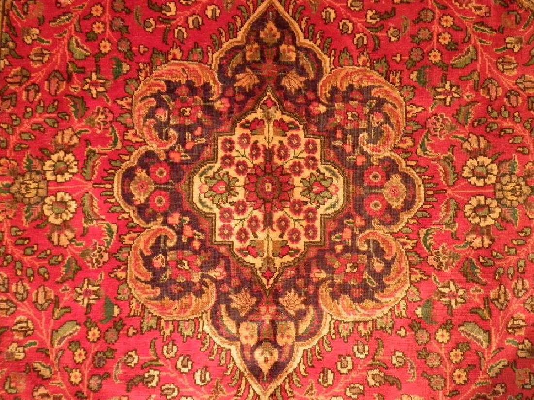 Highly Detailed Semi Antique Persian Tabriz 9.4x6.5 - 4