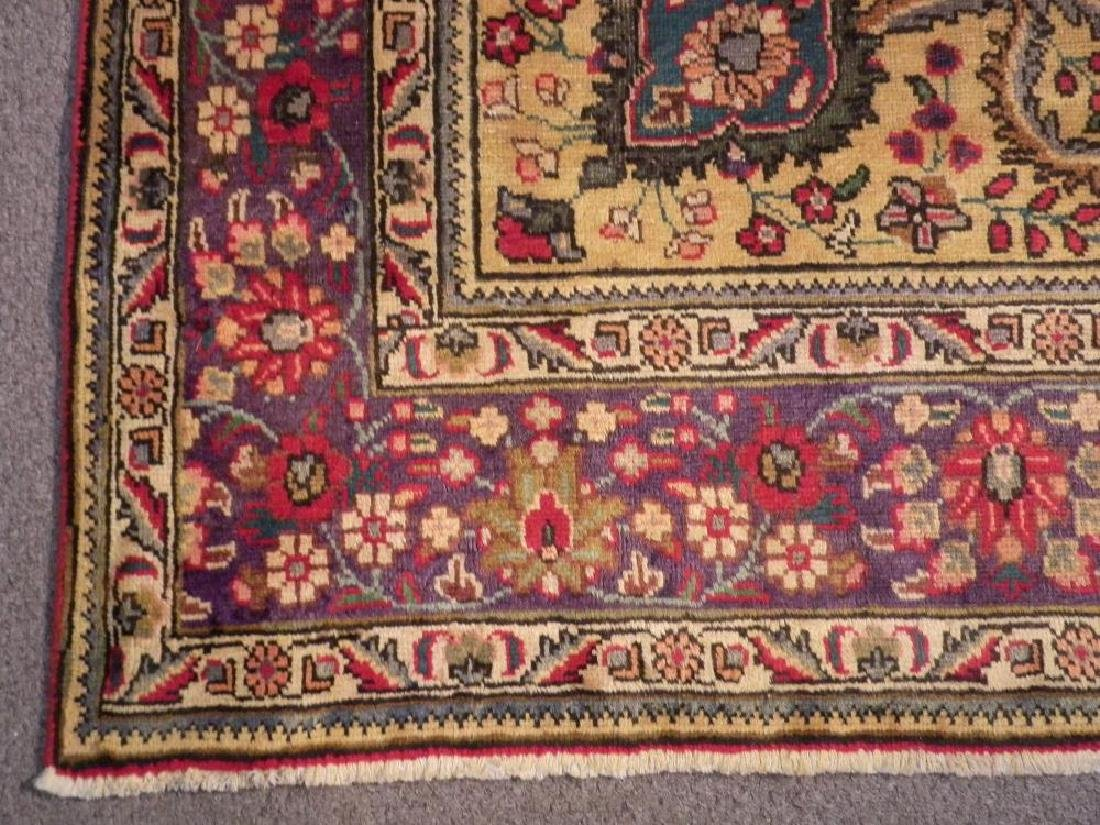 Highly Detailed Semi Antique Persian Tabriz 9.4x6.5 - 5
