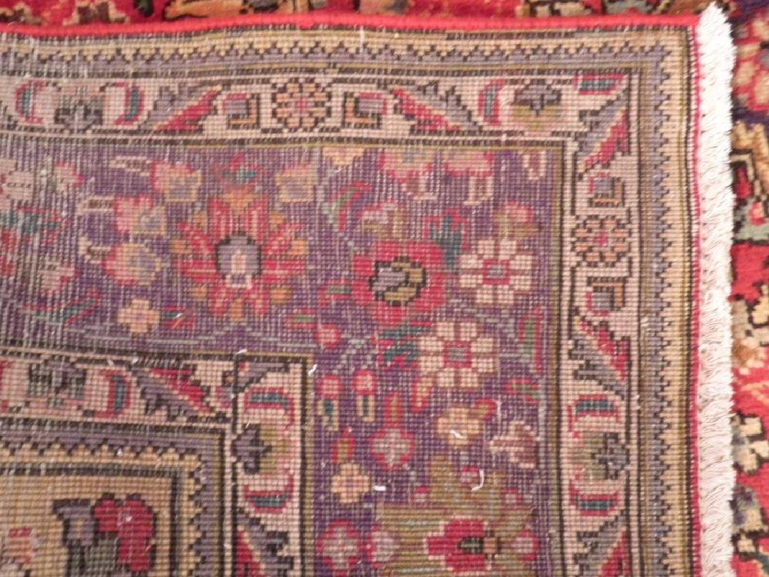 Highly Detailed Semi Antique Persian Tabriz 9.4x6.5 - 6