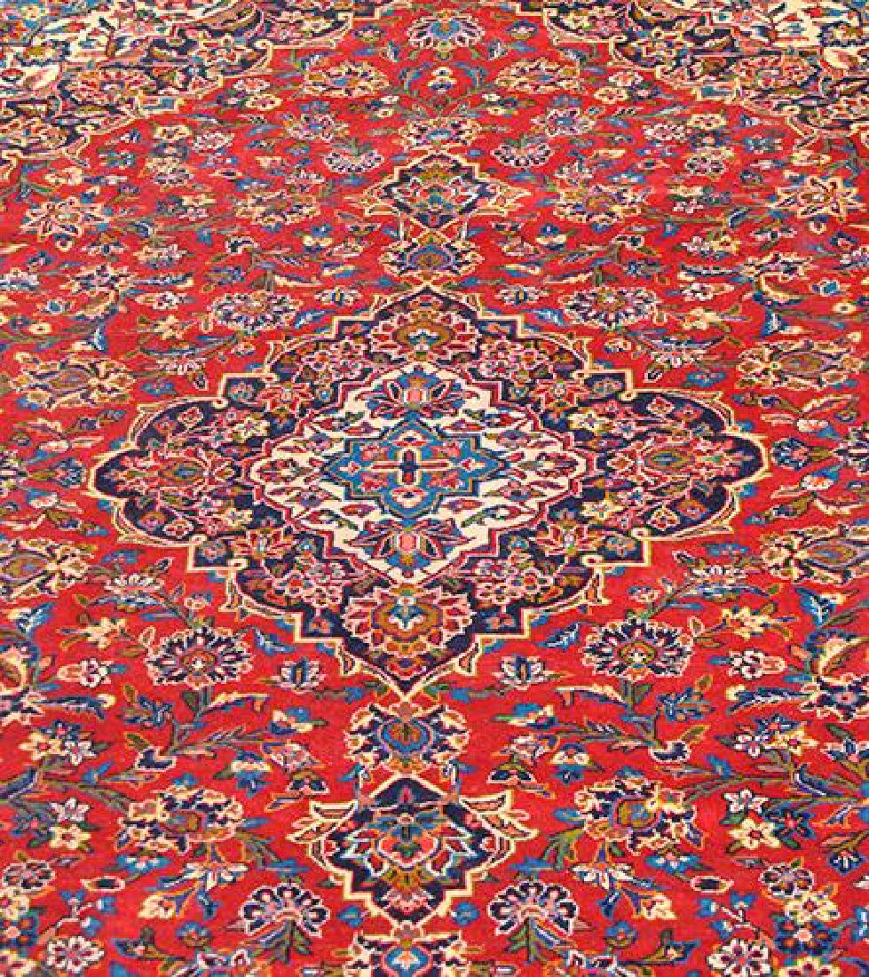 Large Authentic Persian Kashan Rug - 2