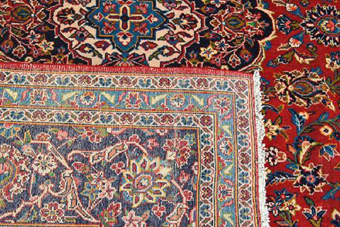Large Authentic Persian Kashan Rug - 4