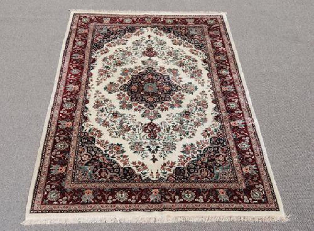 Gorgeous Wool and Silk Tabriz Design Rug