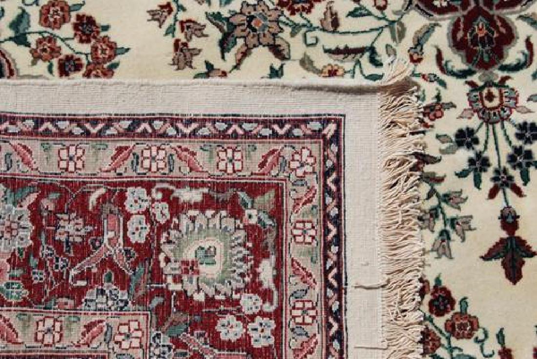 Gorgeous Wool and Silk Tabriz Design Rug - 4