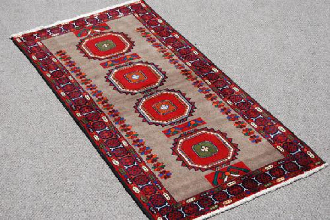 Finely Knotted Delicate Persian Turkmen Rug 3x6