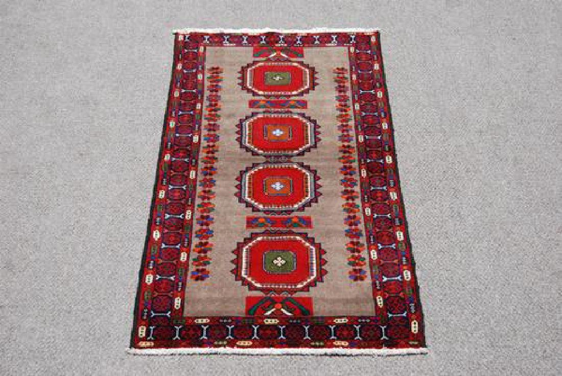 Finely Knotted Delicate Persian Turkmen Rug 3x6 - 2