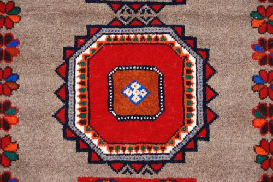 Finely Knotted Delicate Persian Turkmen Rug 3x6 - 3