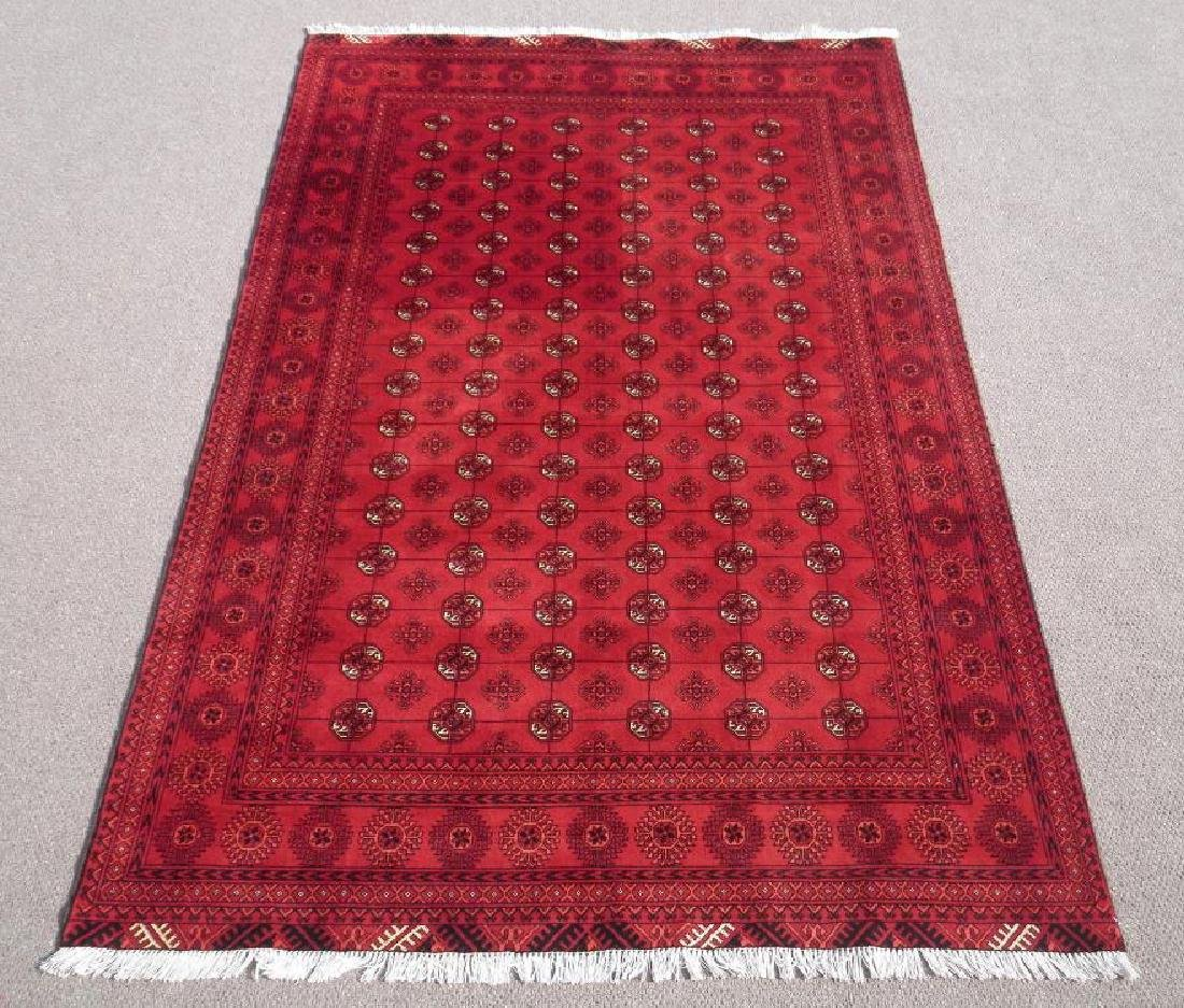Hand Knotted Semi Antique Afghan Allover Design 6x10 ft