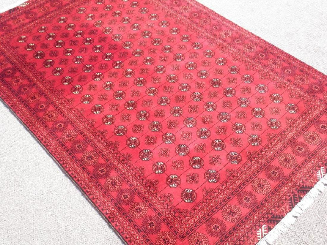 Hand Knotted Semi Antique Afghan Allover Design 6x10 ft - 2