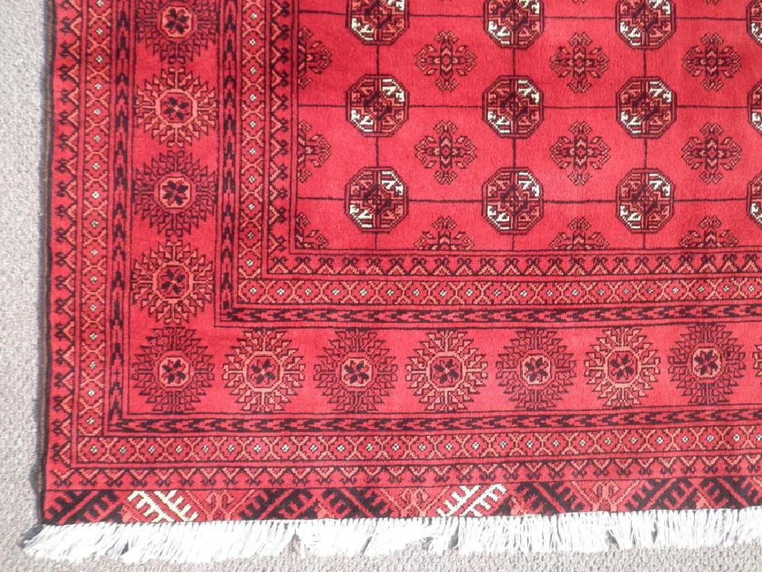 Hand Knotted Semi Antique Afghan Allover Design 6x10 ft - 4