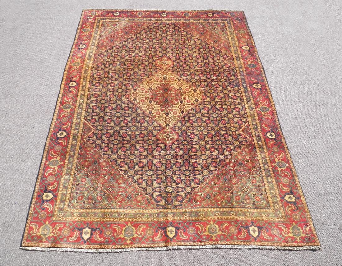 Semi Antique Persian Tabriz Mahi (Fish) Design 10.8x7