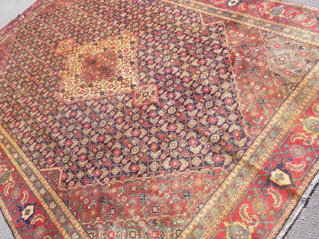 Semi Antique Persian Tabriz Mahi (Fish) Design 10.8x7 - 2