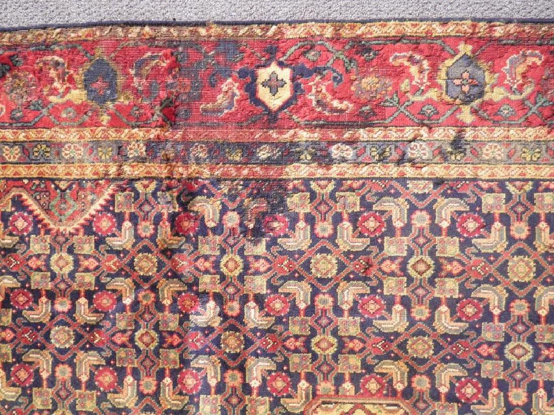 Semi Antique Persian Tabriz Mahi (Fish) Design 10.8x7 - 4