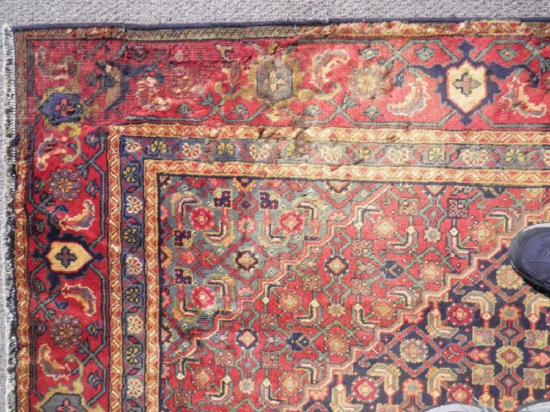 Semi Antique Persian Tabriz Mahi (Fish) Design 10.8x7 - 5