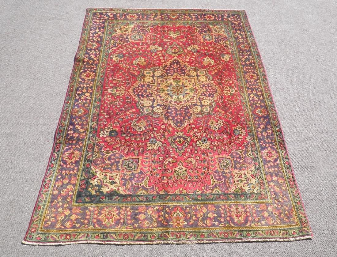 Strikingly Beautiful Semi Antique Persian Tabriz 9.9x7