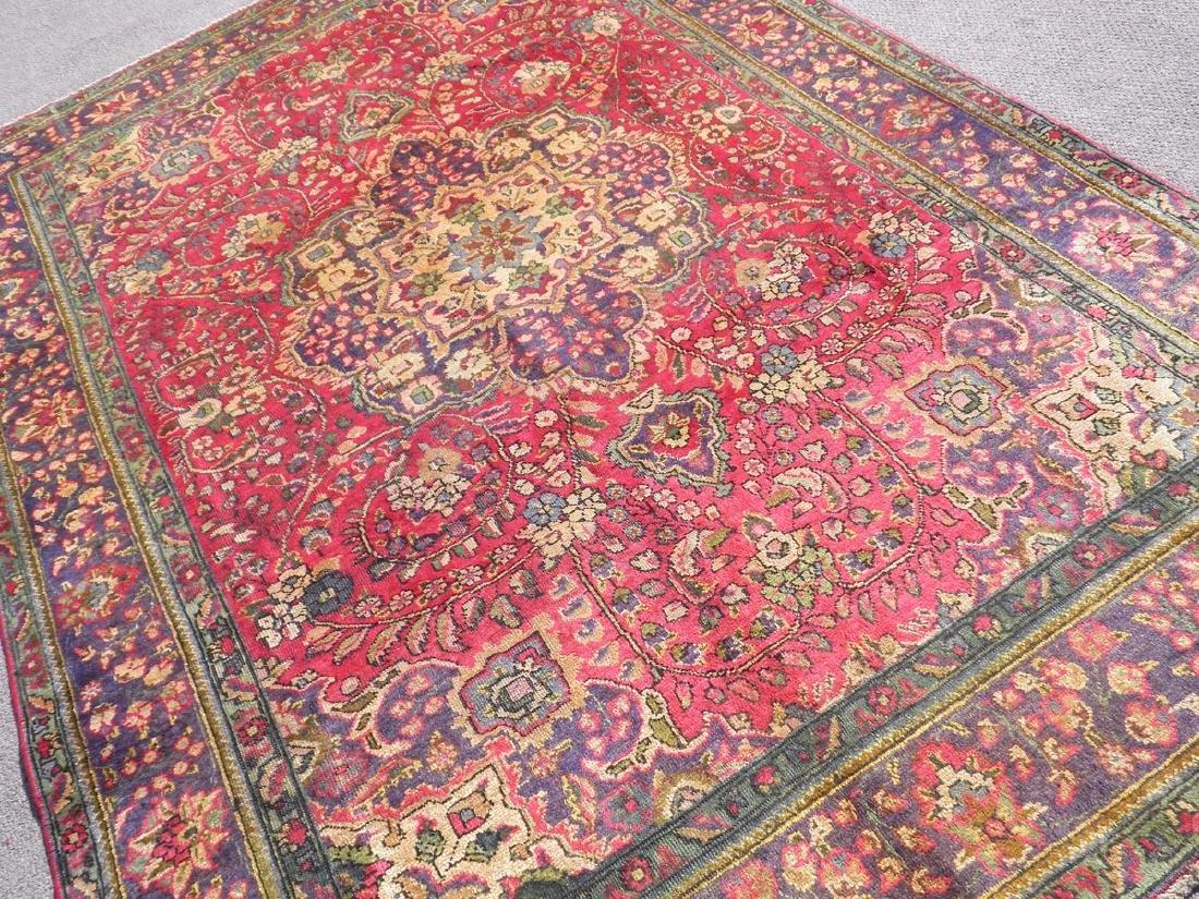 Strikingly Beautiful Semi Antique Persian Tabriz 9.9x7 - 2