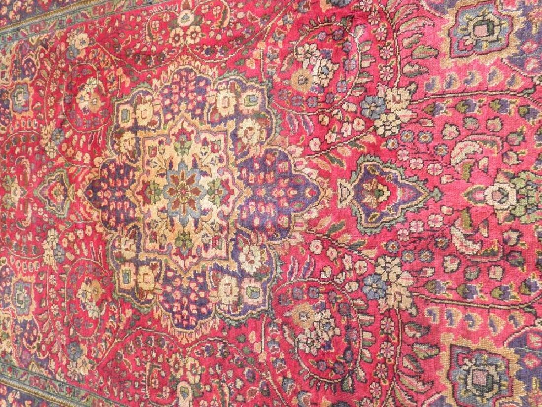 Strikingly Beautiful Semi Antique Persian Tabriz 9.9x7 - 3