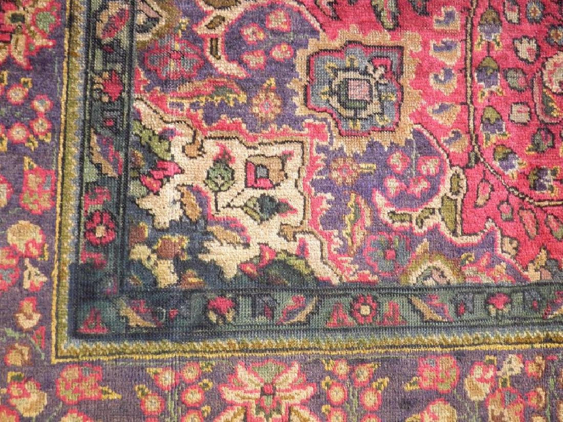 Strikingly Beautiful Semi Antique Persian Tabriz 9.9x7 - 5
