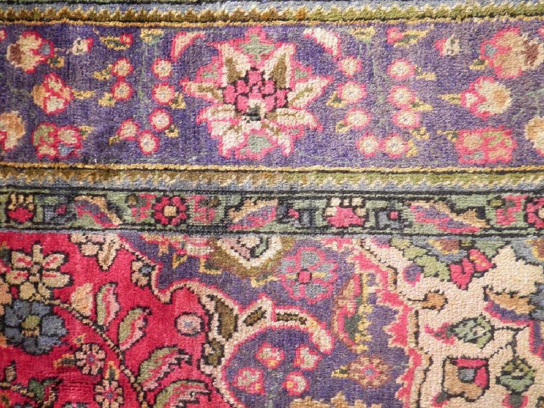 Strikingly Beautiful Semi Antique Persian Tabriz 9.9x7 - 6