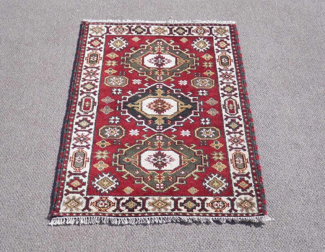 Beautiful Handmade Kazak Design 4.11x3.1