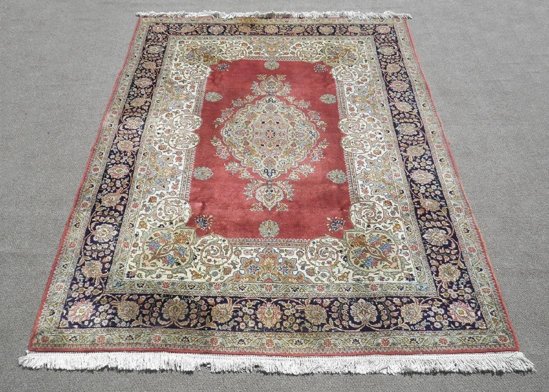 Fine Semi Antique Open Field Persian Tabriz 10.3x7.7