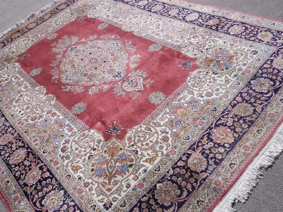Fine Semi Antique Open Field Persian Tabriz 10.3x7.7 - 2