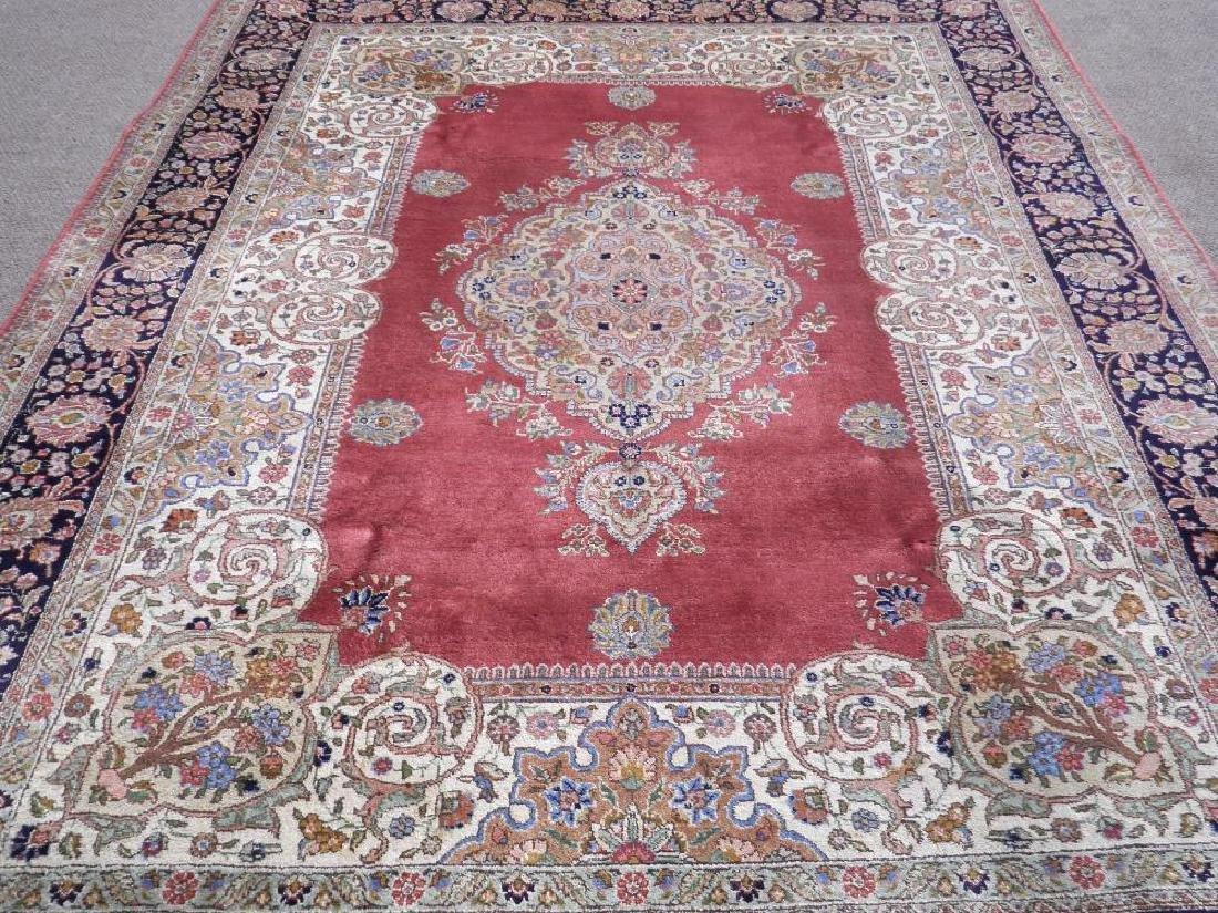 Fine Semi Antique Open Field Persian Tabriz 10.3x7.7 - 3