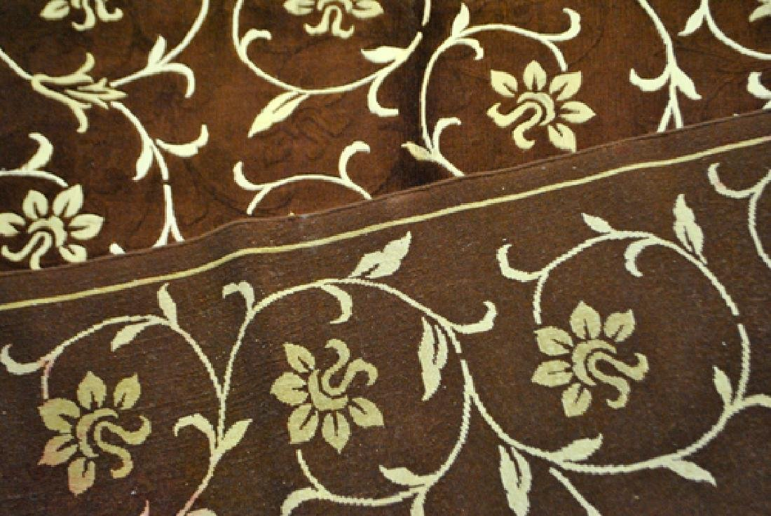 Contemporary Floral Design Wool/Art. Silk Turkish Rug - 4