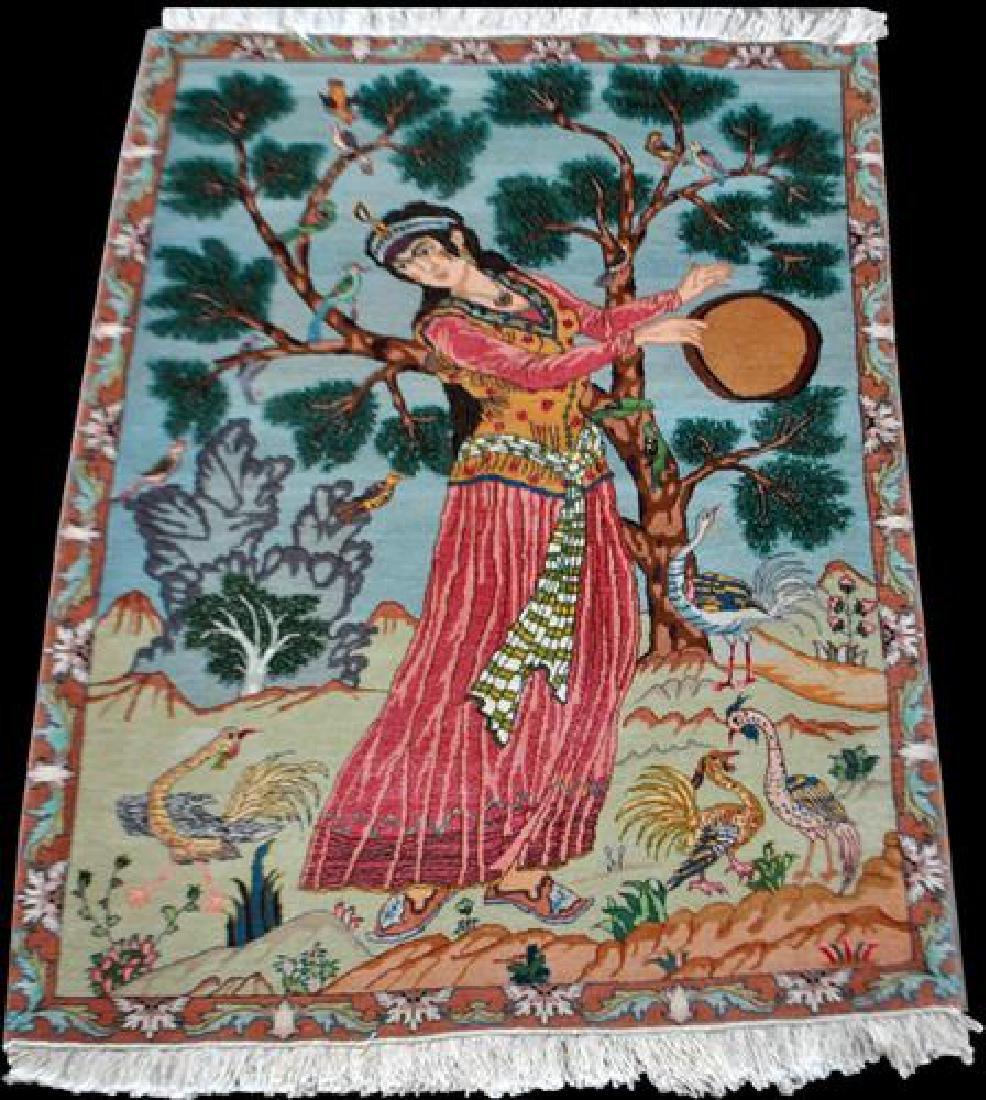 Splendid and Enchanting Fine Persian Tabriz Pictorial