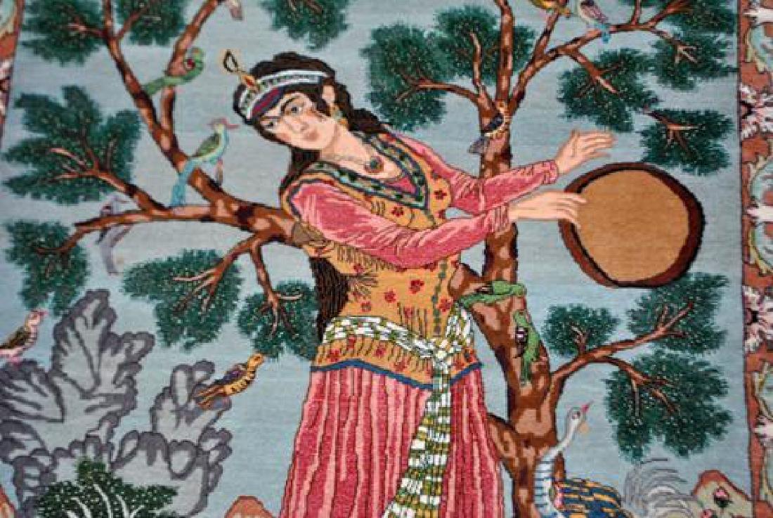 Splendid and Enchanting Fine Persian Tabriz Pictorial - 2