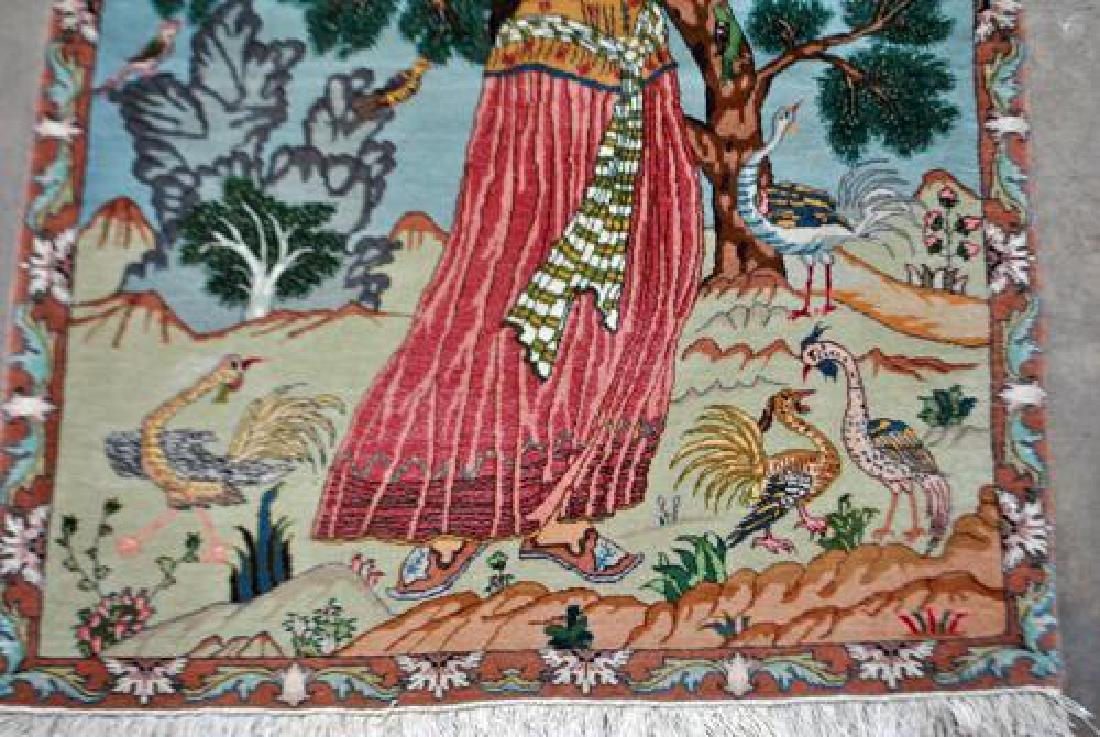 Splendid and Enchanting Fine Persian Tabriz Pictorial - 3