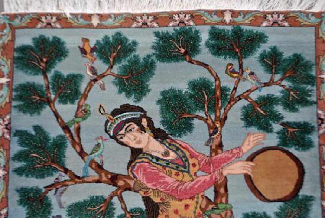 Splendid and Enchanting Fine Persian Tabriz Pictorial - 4