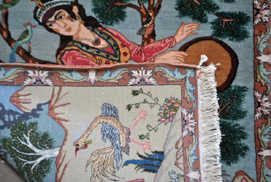 Splendid and Enchanting Fine Persian Tabriz Pictorial - 5