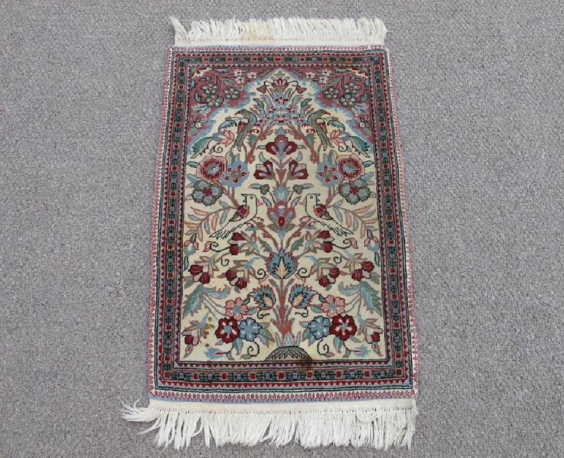 Admirable Handmade Floral Persian Qum Design Rug