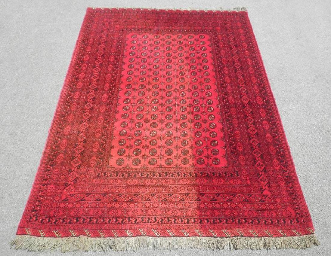 Finely Knotted Delicate Wool on Wool Semi Antique