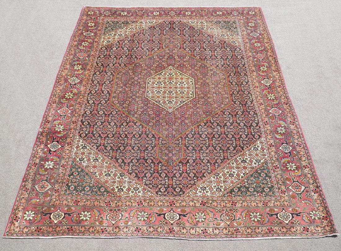 Semi Antique Persian Tabriz Mahi (Fish) Design 12.6x9.6