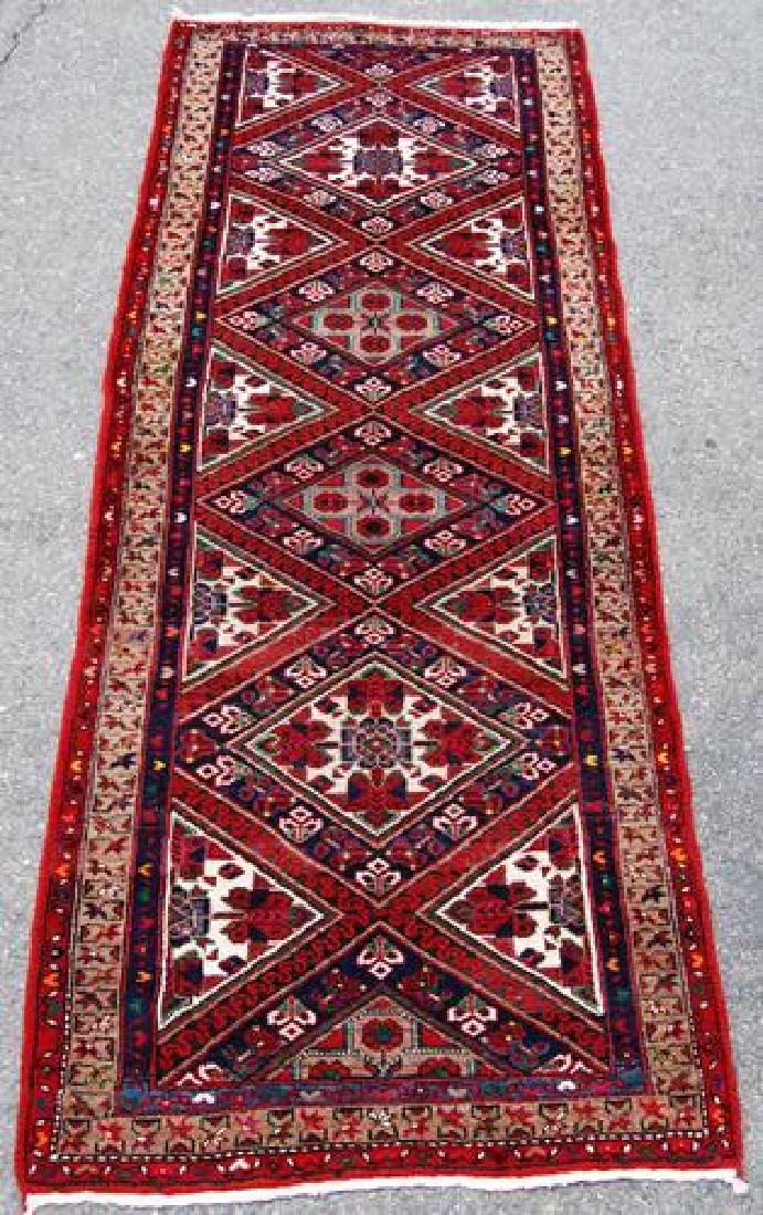 Magnificently Vibrant Persian Karajeh Runner 10.5x3.10