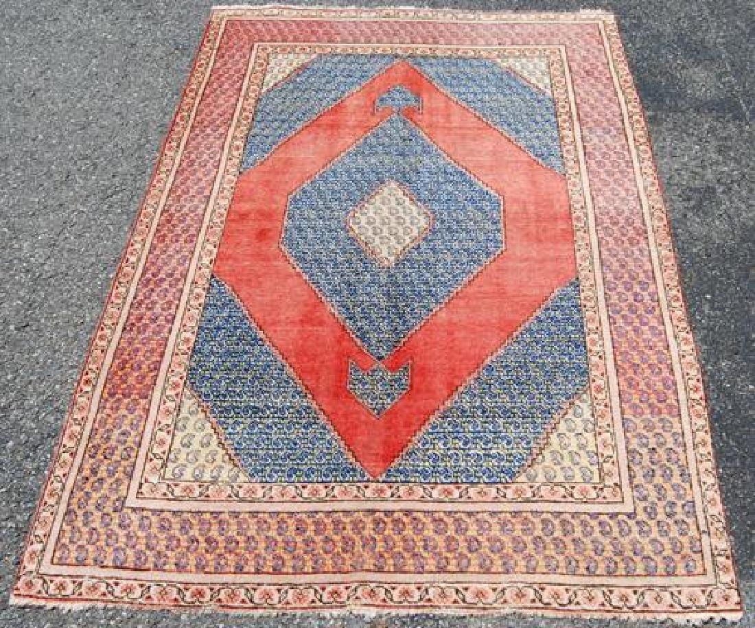 Great Look Semi-antique Handmade Persian Hamadan Rug