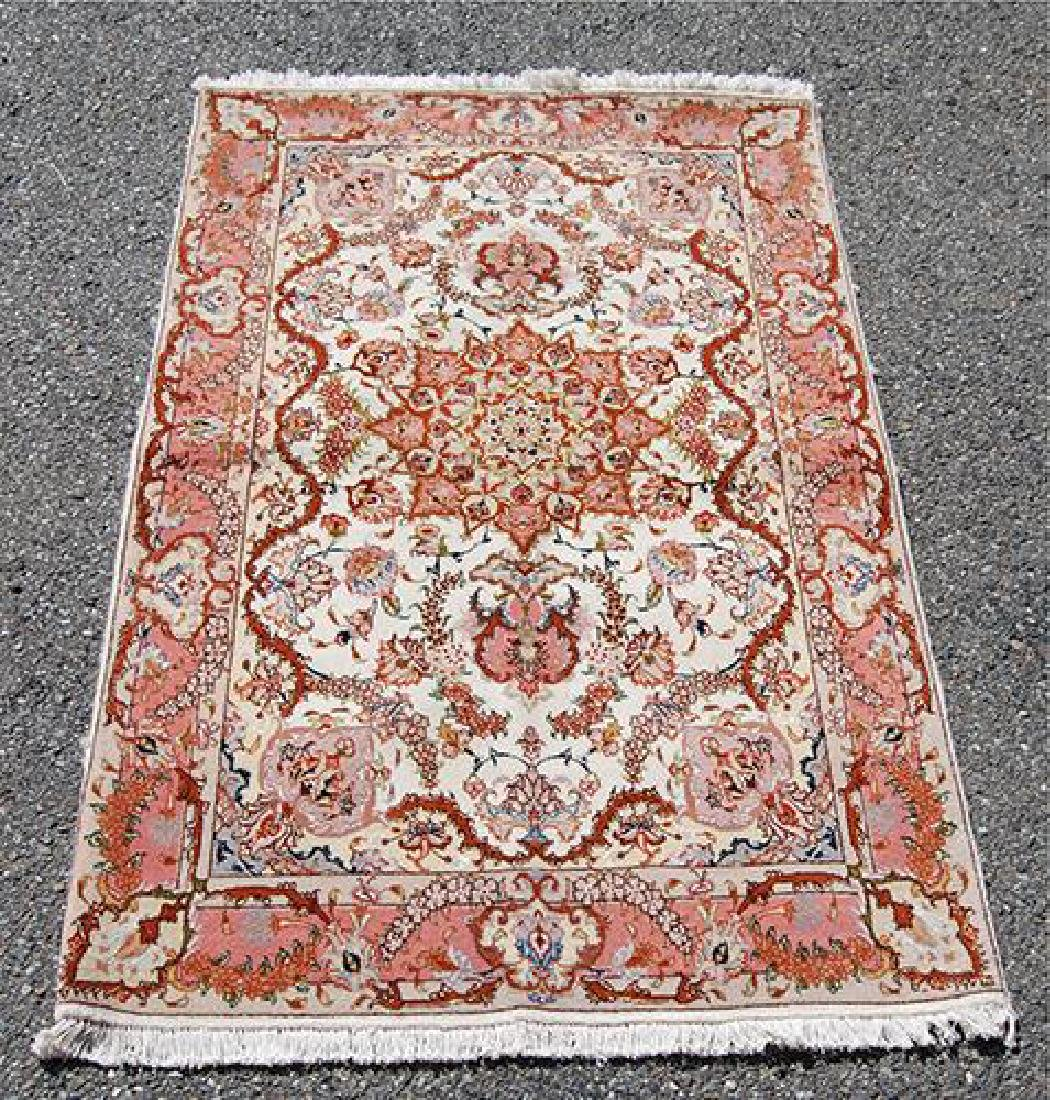 Fine Floral Handmade Silk Highlighted Persian Tabriz