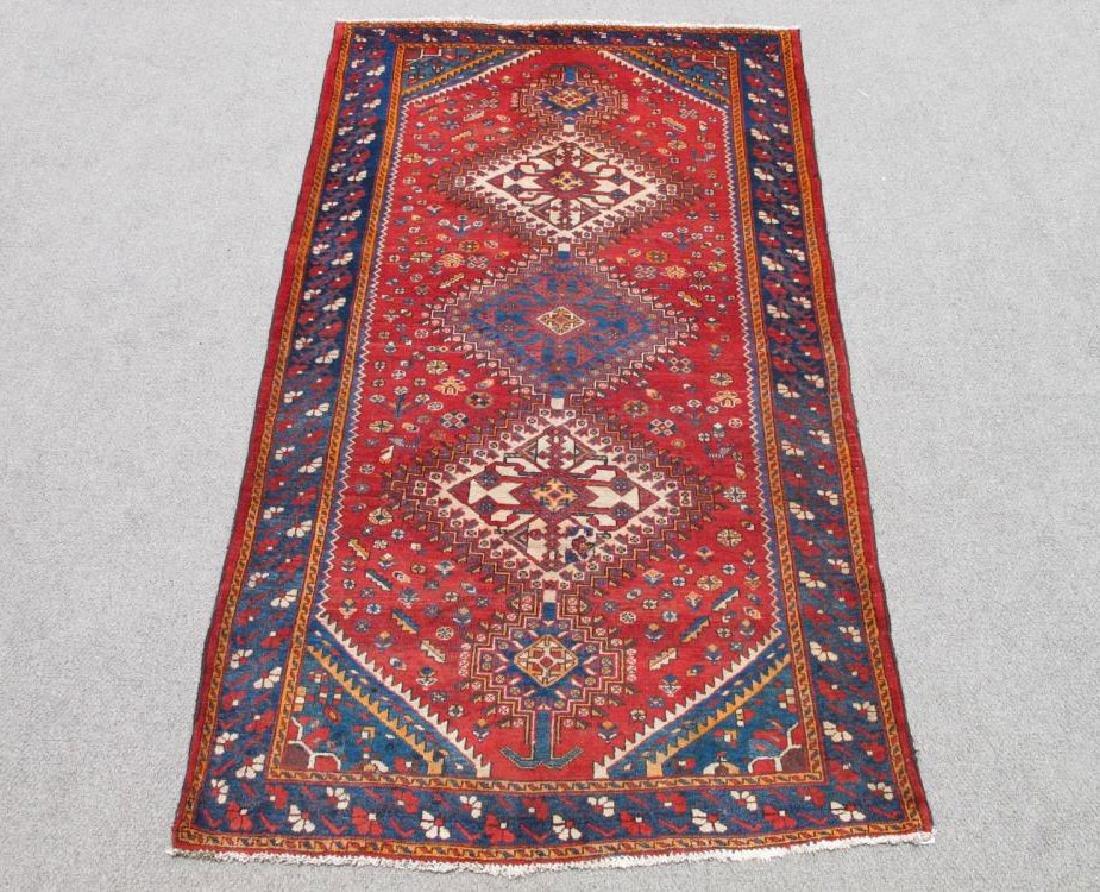 Beautiful Tribal Semi Antique Wool on Wool Persian