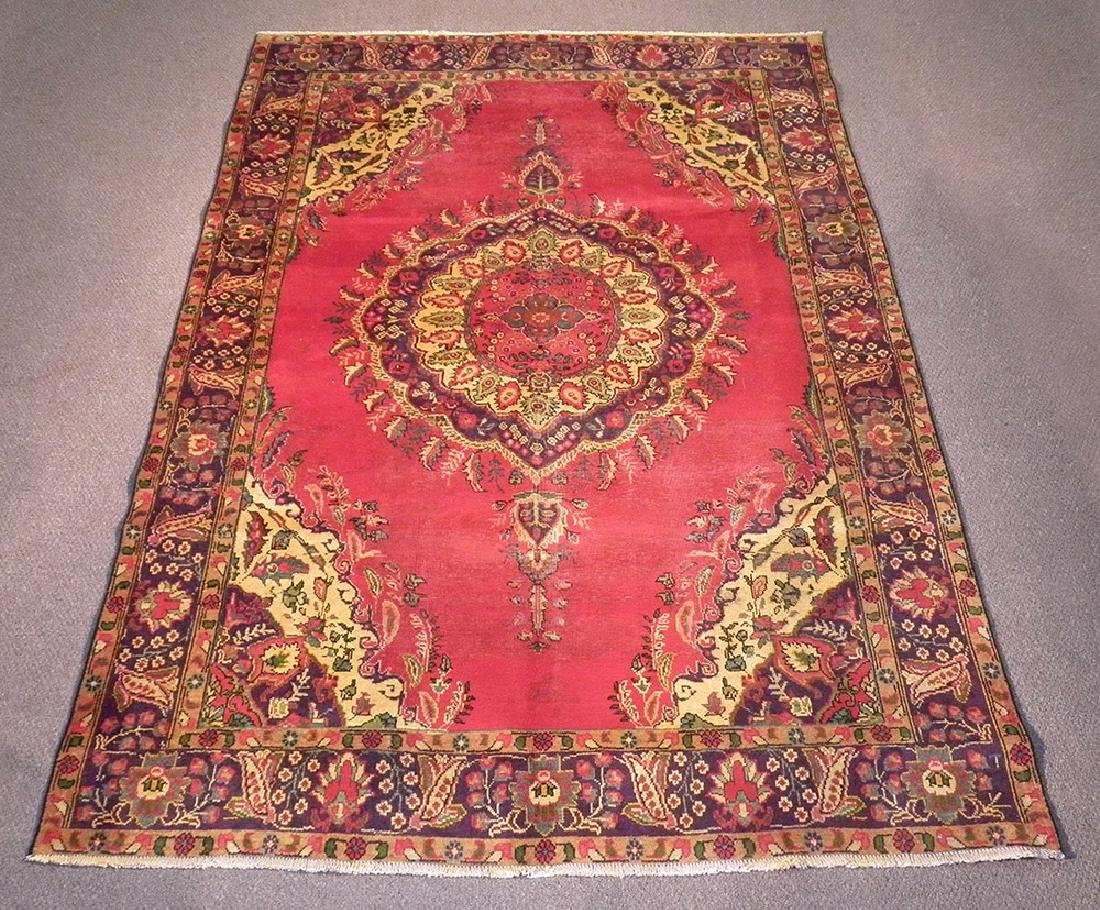 Simply Beautiful Semi Antique Tabriz 9.2x6.5