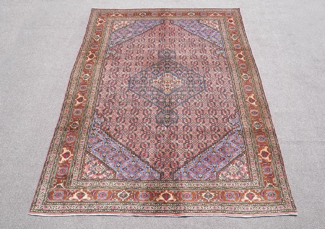 Semi Antique Persian Tabriz Mahi (Fish) Design 9.7x6.7