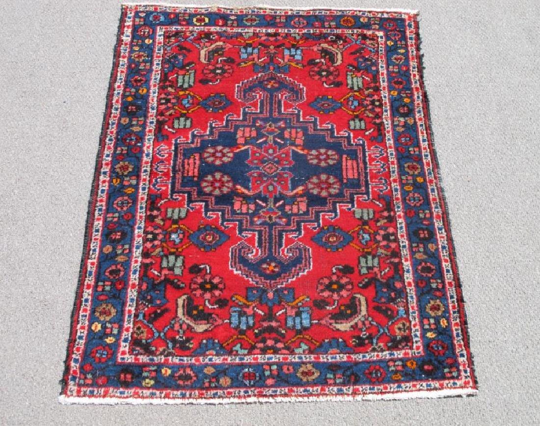 Simply Beautiful Semi Antique Persian Hamadan 4.10x3.5