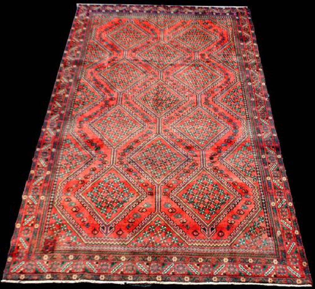 All Over Floral Pattern Persian Yalameh 9.4x6.6