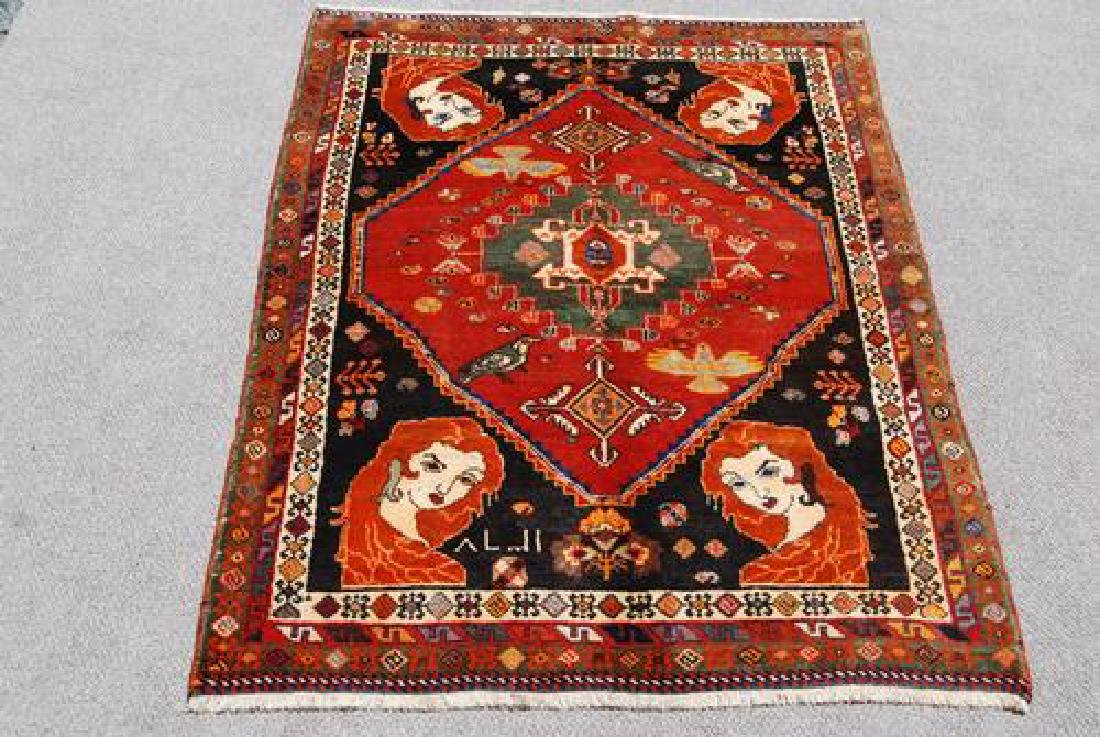 SUPER QUALITY HAND MADE FINE SEMI ANTIQUE GHASHGHAEE - 2