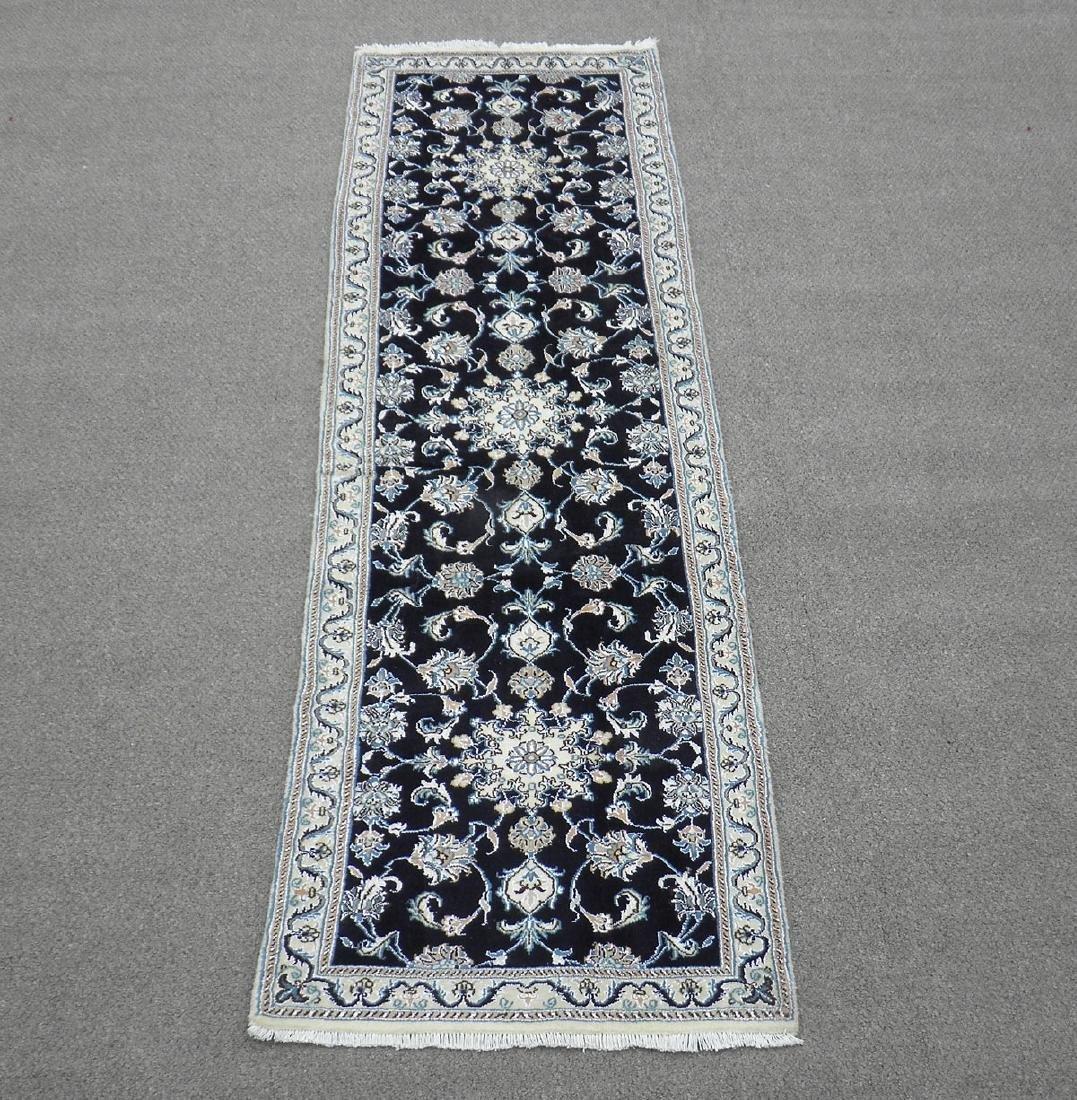 Handmade Wool/Silk Persian Nain 9x2.7