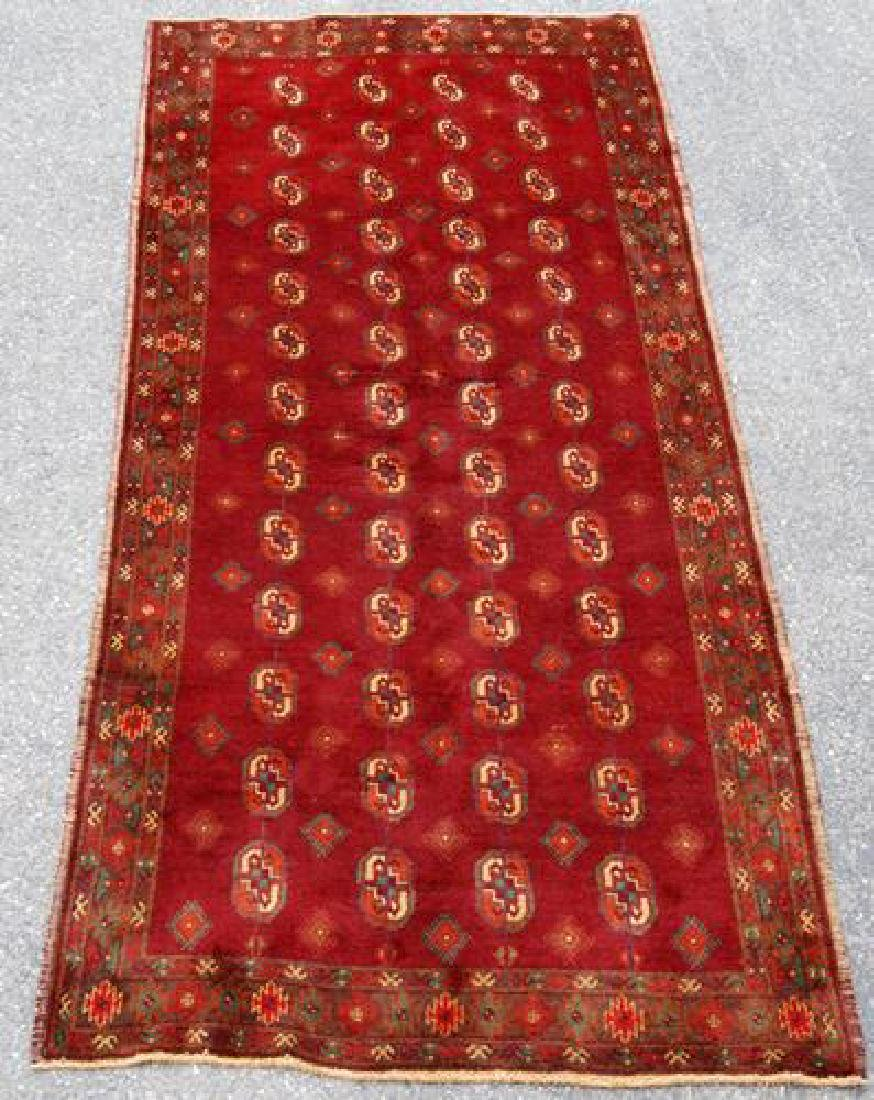 Intricate Knotted Vintage Yomut Turkman Tribal 9.4x4.4