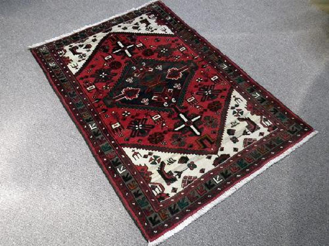 Elegant Hand Woven Authentic Hamedan Rug