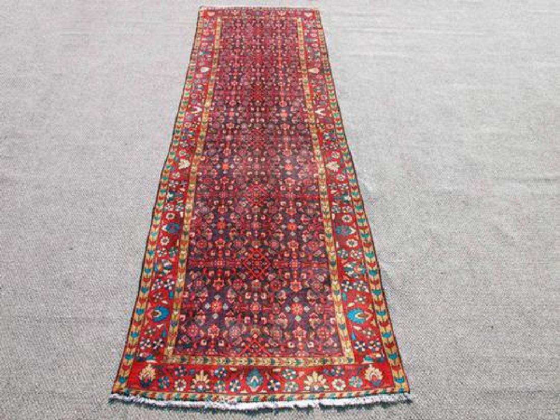 Lustrous Fine Quality Persian Tabriz Runner 12'